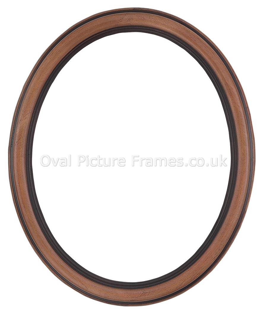 Oval Picture Frames - Antique Walnut Oval Picture Frame. Product ...