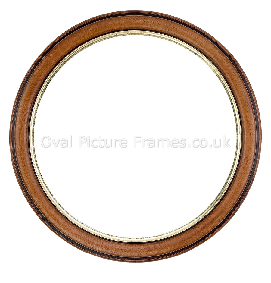 oval picture frames walnut round picture frame product. Black Bedroom Furniture Sets. Home Design Ideas