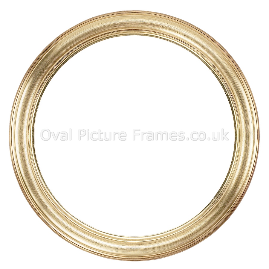 Oval Picture Frames - Gold Round Picture Frame. Product ...